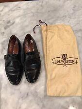 J.M Weston Black Leather Monk-Strap Dress Shoes Size 36 USA 5.5 970$ RP