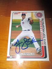 JAKE STINNETT Cubs Signed 2015 Midwest League Top Prospects Card AUTO Autograph
