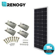 Renogy 100W 12V Solar Panel w/ Z Bracket Mouting 100W 12V Off Grid PV Power