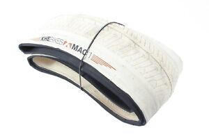 "Khe Folding Bmx Bike Tyre Premium Mac1, White, 20""X1.70"",  Flat Land Tyre"