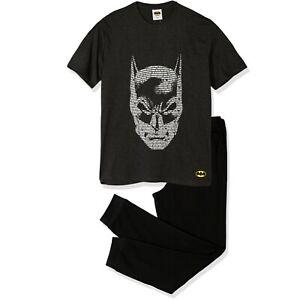 Batman Mens Cartoon Cotton Pyjamas Loungewear Pjs Set Trousers T-Shirt M-XXL