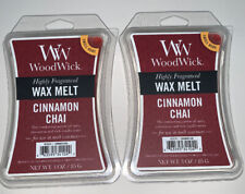 (2) WOODWICK Wax Melts CINNAMON CHAI Scented / 3 Oz Each / Free Shipping