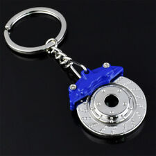 Blue Metal Car Brake Disc Keychain Keyfob Engine Key Chain Ring Keyring Gift