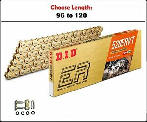 D.I.D DID 520 ERVT Xring Motorcycle Drive Chain Gold with Clip Master Link