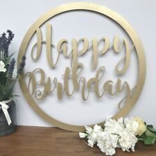 50cm Happy Birthday Wall Hanging Event Party Hoop Wall Backdrop Hanging