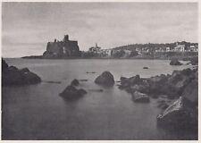 D3603 Aci Castello - La riva e le rovine del Castello - Stampa - 1940 old print