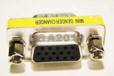 15 Pin HD SVGA VGA Female jack to Female Plug Gender Changer Adapter Convertor