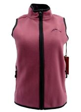 Wrangler Womens Vest Small Pink Zippers Fleece Textured Pockets Soft Casual New