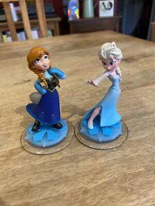 Disney Infinity Elsa And Anna Frozen Figures - VGC