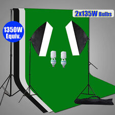 Photo Studio Soft Box Softbox Continuous Lighting Backdrop Background Stand Kit