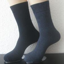 2 Paar Damen Thermo Winter Socken ohne Gummi extra warm blau 35 bis 42