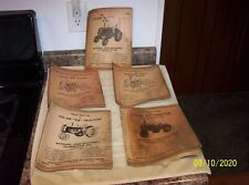 9 - VINTAGE NATIONAL FARM MACHINERY CO-OPERATIVE TRACTOR MANUALS - E2, E3 ETC.