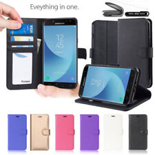Synthetic Leather Mobile Phone Wallet Cases for Samsung Galaxy J2
