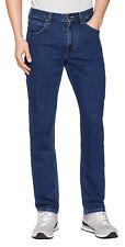 Lee Brooklyn New Men's Stretch Jeans Straight Leg  Dark Stone Blue Denim