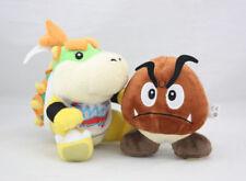 2PCS Super Mario Bros Bowser Jr. Koopa Goomba Plush Stuffed Soft Doll Figure Toy