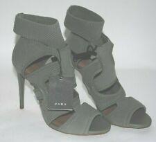 ZARA Woman Stiletto Stretch Ankle Strap Shoes Size 7.5 Stretch Strapy NWT