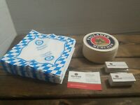 Paulaner Wiesbaden Bar Coasters Drink Napkins and Matches Advertising Germany