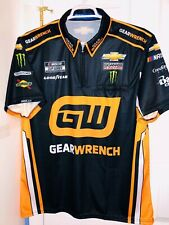 Large Nascar Cup Series Busch Monster Energy Pit Crew Shirt Sparco GearWrench