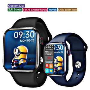 2021 HD Smart Watch 3D Wallpapers Split Screen+ BT Call Sports Android iPhone UK