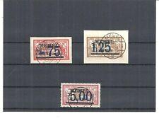 Memel, Klaipeda, Litauen 1922, Michelnr: 49 - 51 o, gestempelt, Katalogwert € 15