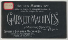 Smith / TRADE CATALOGUES TEXTILES Woolen Machinery Metallic Toothed Cylinders