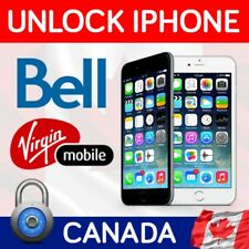 Semi PREMIUM FACTORY UNLOCK SERVICE BELL , VIRGIN Canada iPhone 4/5/6/7/8/X