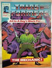 TRANSFORMERS #109 (1987) Marvel UK comics VG+