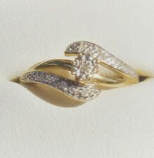 Gorgeous, Solid 9K Yellow Gold Genuine Diamond Ring. Valuation $400.00