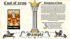 Faeff-Phyfe COAT OF ARMS HERALDRY BLAZONRY PRINT