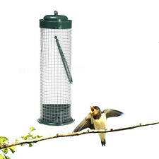 Green Hanging Wild Bird Feeder Seed Container Hanger Garden Outdoor Feeding New