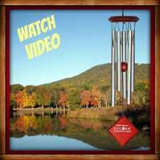 """Woodstock CHIMES OF MERCURY Silver WIND CHIMES 14"""" NEW In Box"""