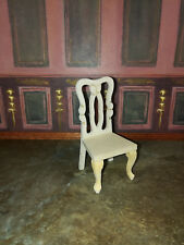 Dollhouse Miniature Unfinished Wood Dining or Side Chair 1:12 Scale