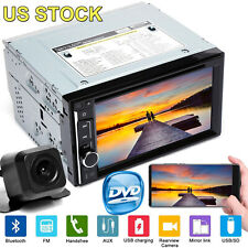 2 Din In dash Car Stereo Touchsreen Hd Tv Dvd Cd Player Aux Bluetooth Fm Radio