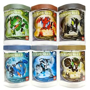 LEGO Bionicle Bohrok Complete Set of 6 w/ Canisters & Instructions #2
