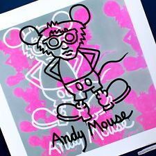 ANDY WARHOL MOUSE KEITH HARING UNCUT GICLEE ART PRINT HARING FOUNDATION POSTER