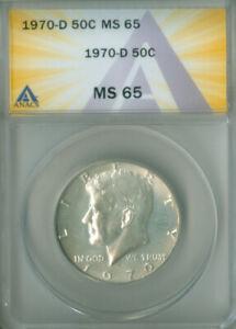 1970-D Kennedy Half Dollar 50C ANACS MS 65 (2026060)