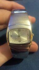 Ladies crystal dial bangle quartz watch
