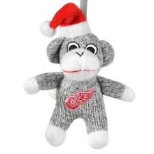 Detroit Red Wings NHL Hockey Team Logo Sock Monkey Christmas Tree Ornament Decor