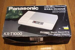 Panasonic EASA-PHONE Model KX-T1000 Telephone Answering System