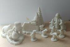 Dept 56 Snowbabies Lot Penquins - Walrus - Bunny - Sign