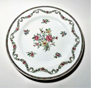 Spode plate Copelands China England Collamore & Co. flowers garland New York