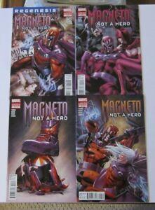Magneto Not A Hero #1-4 Complete Set VF+ 1st Prints Marvel Comics 2012 X-Men