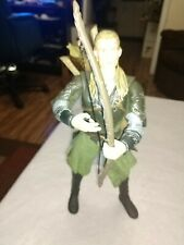 """2003 Lord of The Rings 12"""" LEGOLAS Action Figure - w/bow + 2 arrows + 2 swords"""