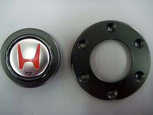 JDM HONDA Acura NSX-R Horn Button 78514-SL0-R01 & Steering Ring 78515-SL0-Z01