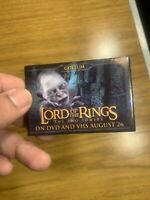 """VINTAGE 3"""" x 2"""" PINBACK BUTTON #60- 025 - LORD OF THE RINGS TWO TOWERS - GOLLUM"""