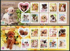 Japan 2015 Hunde Dogs Pets Haustiere Animals Kleinbögen ** MNH