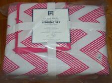 Pottery Barn Pb Teen Zig Zag Bedding Set Xl Twin Pink Chevron Comforter 5Pc #9