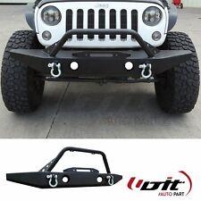 07-17 Jeep Wrangler JK Rock Crawler Front Bumper OE Fog Light Holes Winch Plate