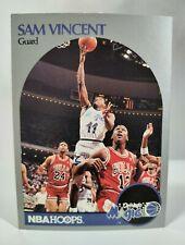 1990-91 NBA Hoops Basketball, Sam Vincent #223, Michael Jordan Wears #12 Bulls