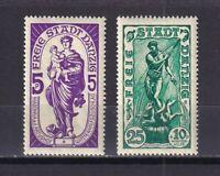DANZIG GERMANY 1937, Mi# 276, 279, СV €30, part set, Madonna and Neptun, MNH